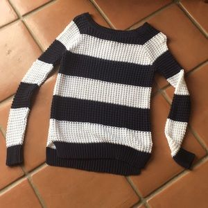 Blue and White Striped AE Sweater